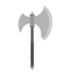axe slashing weapons poleax isolated battle ax vector image