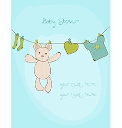 Baby shower card with place for your text vector