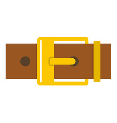 Belt with yellow square buckle icon isolated vector