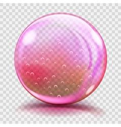 Big pink glass sphere vector