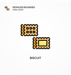 Biscuit icon modern vector