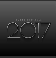 black background with metallic 2017 text in vector image