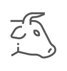 bull head farm animal line icon 48x48 vector image