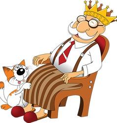 Cartoon grandfather vector image