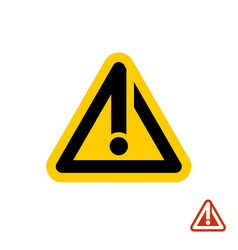 Caution warning line style orange sign vector
