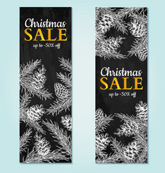 Christmas sale banner hand drawn vector
