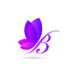 Colorful butterfly logo template an concept vector
