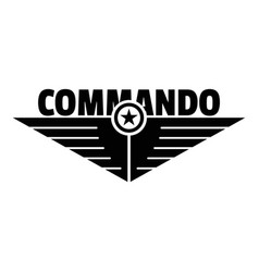 Commando logo simple style vector