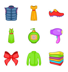 Consumer boom icons set cartoon style vector