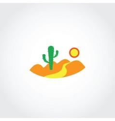 Desert icon vector image