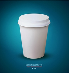 disposable paper cup vector image