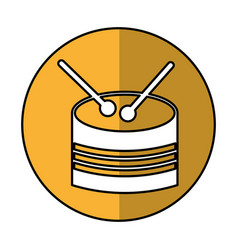 Drump toy instrument icon vector