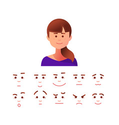 face icon in flat style vector image