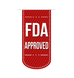Fda approved banner design vector