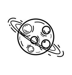 figure exploration uranus planet in the galaxy vector image