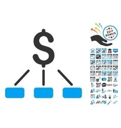 Financial Hierarchy Icon With 2017 Year Bonus vector image