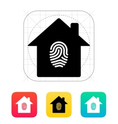 Fingerprint home secure icon vector image
