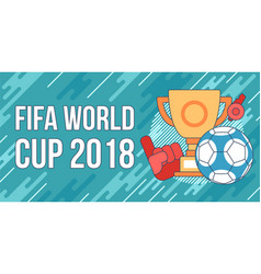 football soccer cup vector image