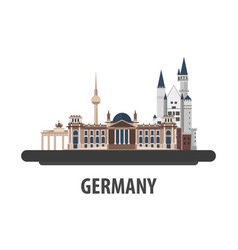 Germany travel location vacation or trip and vector
