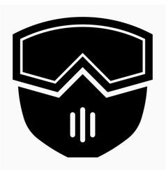 Glyph beautiful modular face mask icon vector