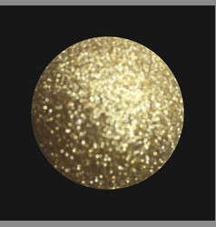 Golden sphere isolated on black vector