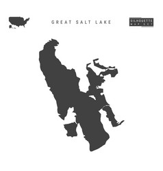 Great salt lake map isolated on white background vector