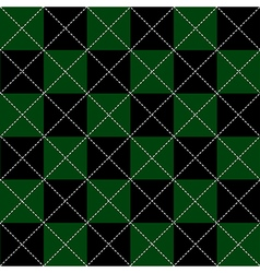 Green Black Chess Board Diamond Background vector