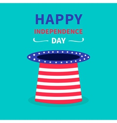 Hat with stars and strip Happy independence day vector image