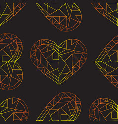 Hearts hand drawn seamless pattern valentines vector