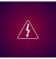 High voltage - vector image