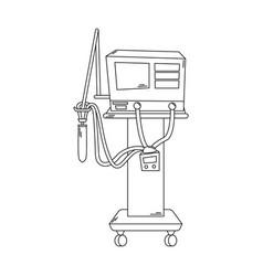 Hospital ventilator fighting coronavirus vector