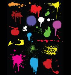 Ink splats vector