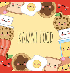 kawaii cartoon concept vector image