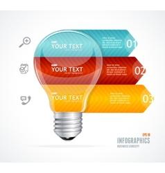 lamp Modern infographics options banner vector image