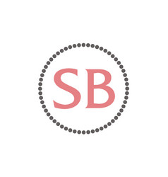 letter sb fashion jewelry vector image