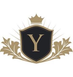 Luxury crest logo vector