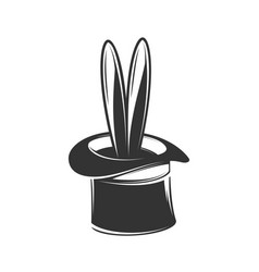 magician hat isolated on white background vector image
