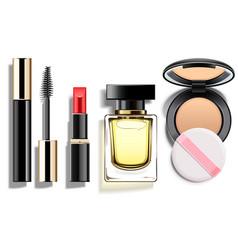 Makeup cosmetics set vector