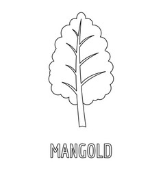 mangold icon outline style vector image vector image