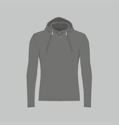 Mens black hooded sweatshirt vector