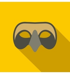 Mens Venetian mask icon flat style vector image