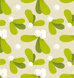 mistletoe pattern vector image