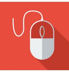 Modern flat design concept icon Computer mouse vector image