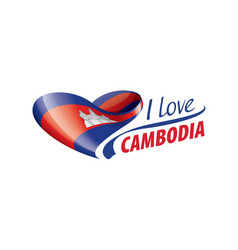 National flag cambodia in shape vector
