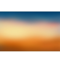 Orange and blue blurred background vector image
