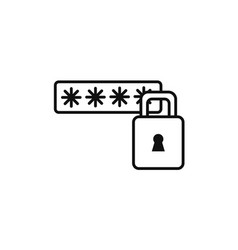 Password security technology internet line style vector