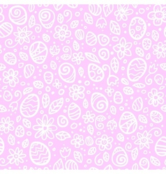 Pink and white Easter eggs seamless pattern vector image