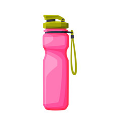 pink plastic bottle fitness and sports equipment vector image