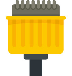 Pins adapter icon flat isolated vector