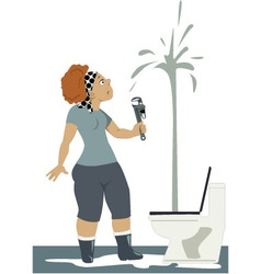 Plumbing problem vector